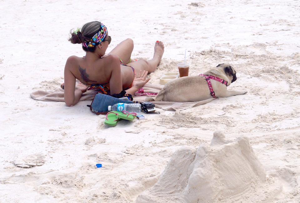 Fully enjoying the sun on Tulum's beaches