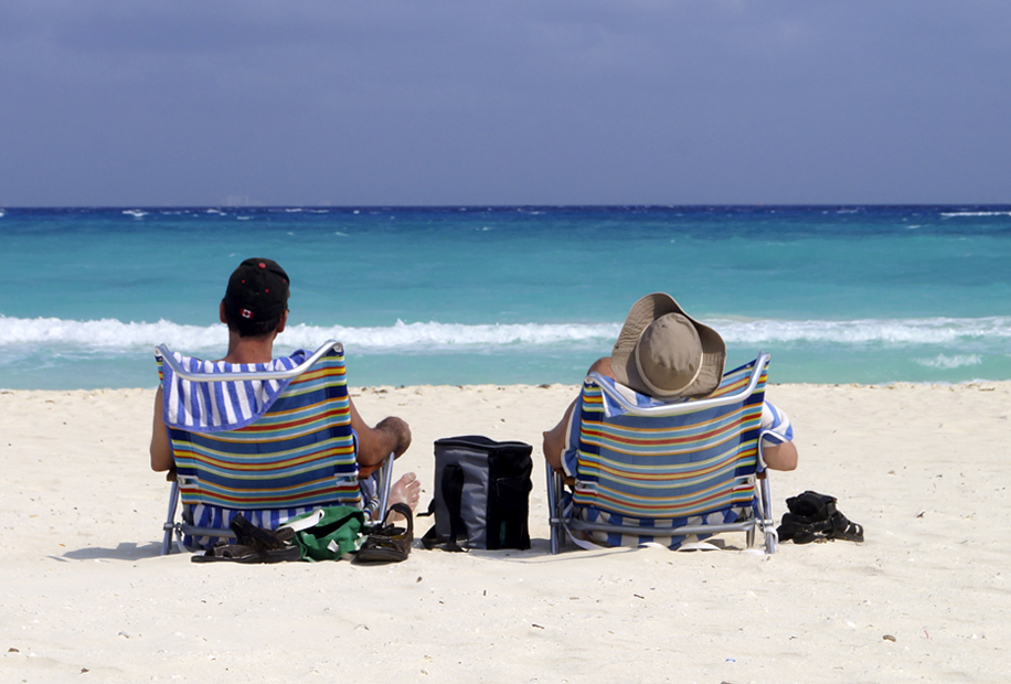 This scene doesn't just happen in commercials! This is every day Playa del Carmen living!