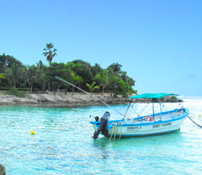 Akumal is a perfect place for a nice day of fishing and relaxing