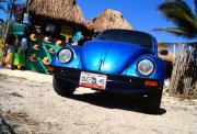 VW's classic beetle just looks so right in Tulum!