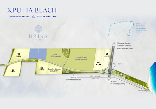 Beachfront lots for sale in playa del carmen